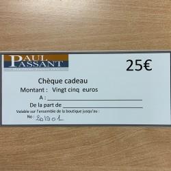 Chèque CADO 25