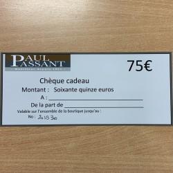 Chèque CADO 75