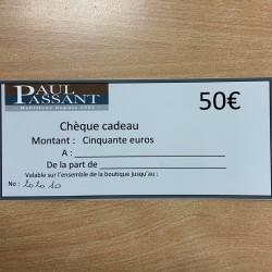Chèque CADO 50